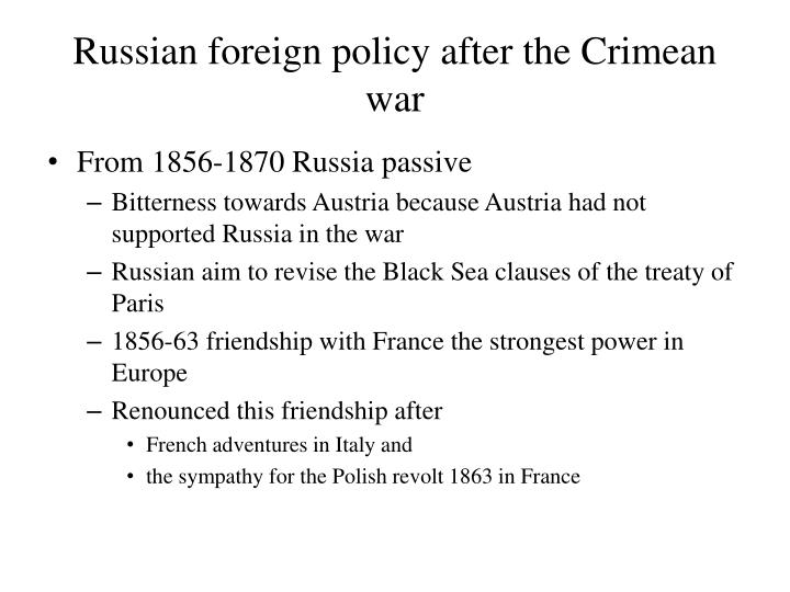 Russian foreign policy after the Crimean war