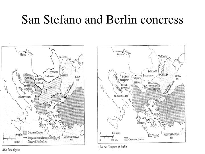 San Stefano and Berlin concress