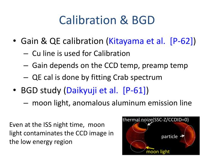 Calibration & BGD