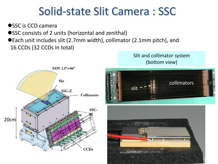 Solid-state Slit Camera : SSC