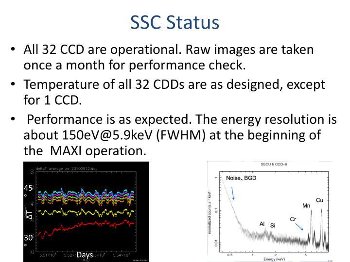 SSC Status
