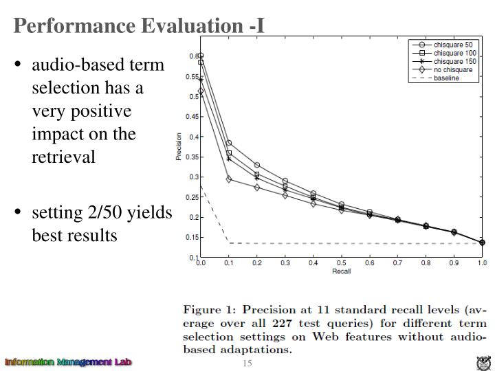 Performance Evaluation -I
