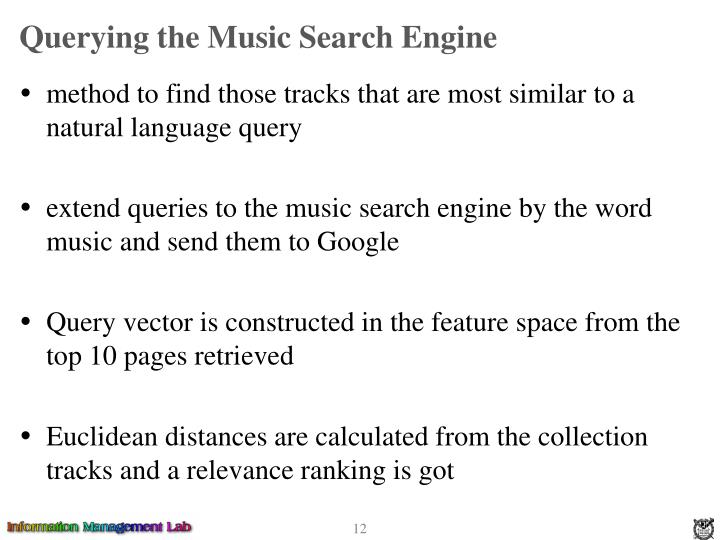 Querying the Music Search Engine