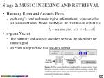 stage 2 music indexing and retrieval