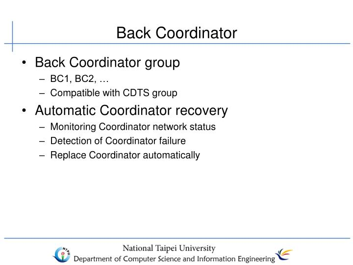 Back Coordinator