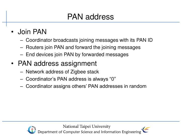 PAN address