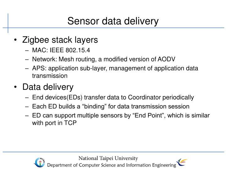 Sensor data delivery