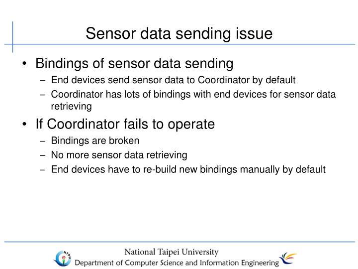 Sensor data sending issue