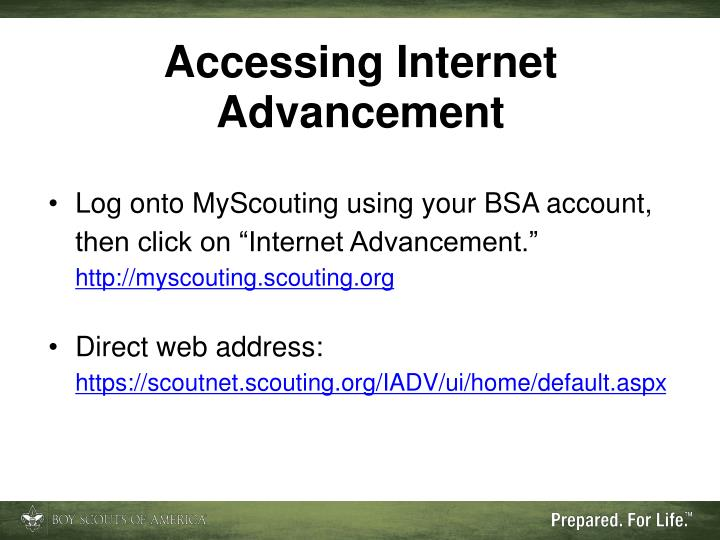 Accessing Internet Advancement