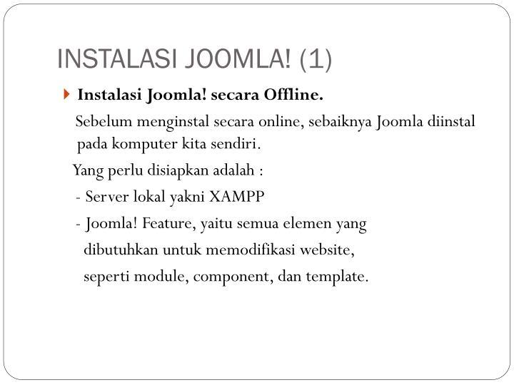 INSTALASI JOOMLA! (1)