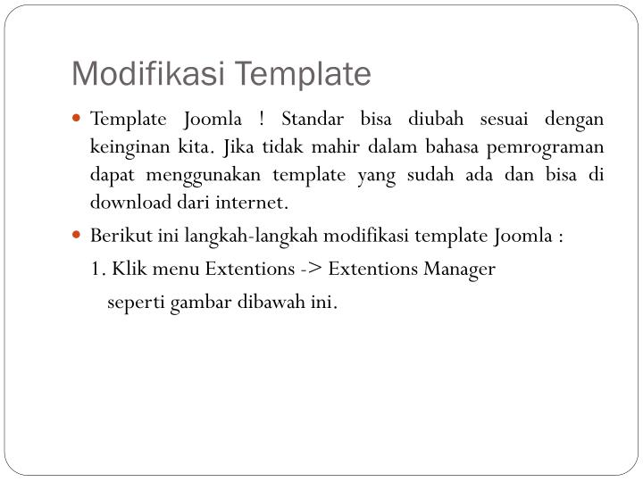 Modifikasi Template