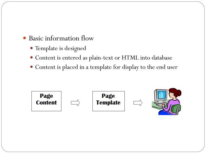 Basic information flow