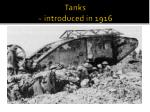 tanks introduced in 1916