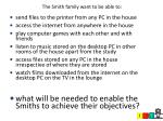 the smith family want to be able to