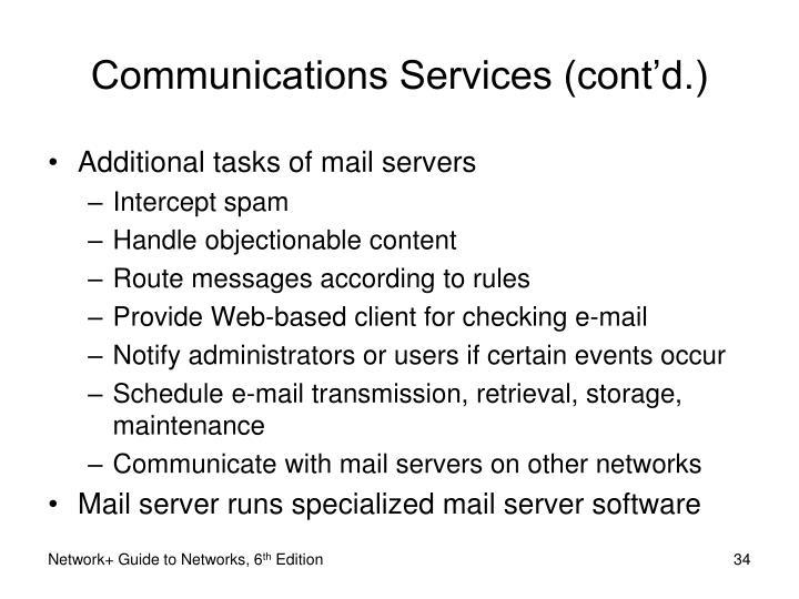 Communications Services (cont'd.)