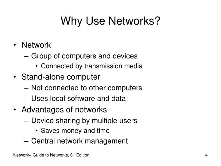 Why Use Networks?