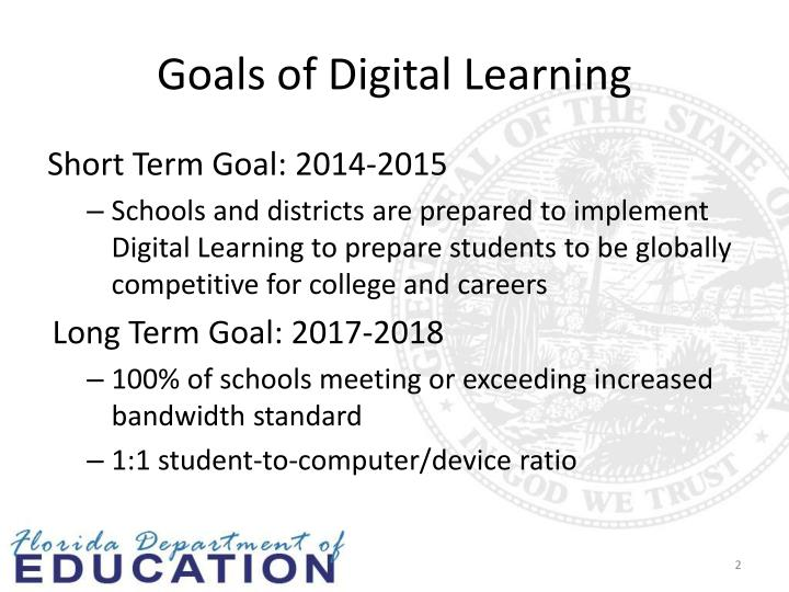 Goals of digital learning