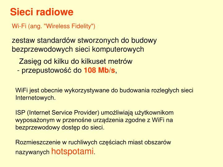 Sieci radiowe