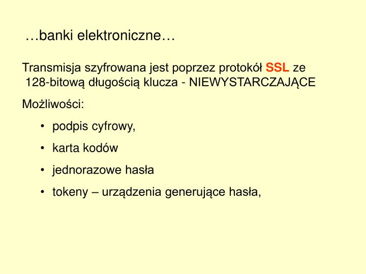 …banki elektroniczne…
