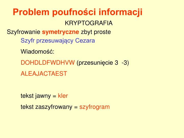 Problem poufności informacji