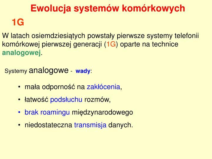 Ewolucja systemów komórkowych
