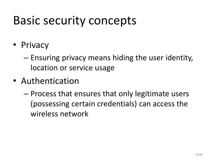 Basic security concepts