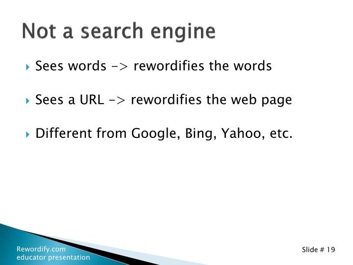 Not a search engine