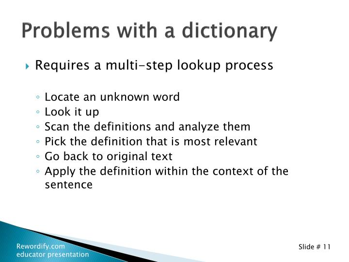 Problems with a dictionary
