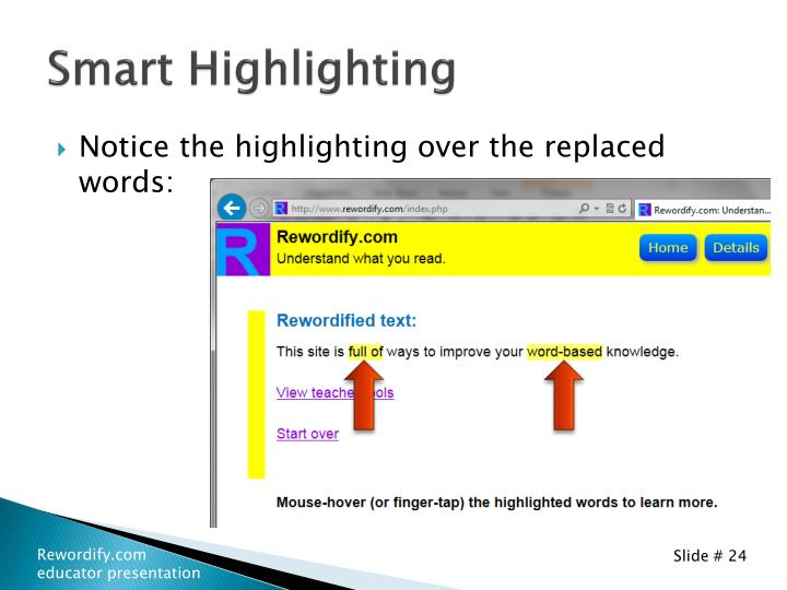 Smart Highlighting