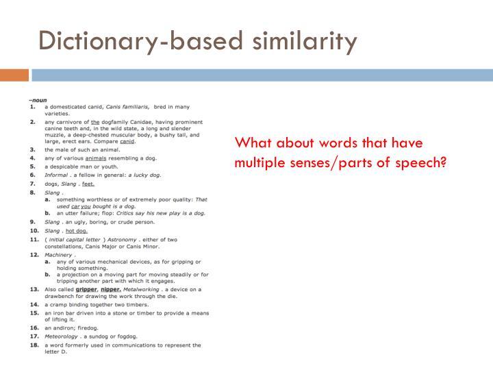 Dictionary-based similarity