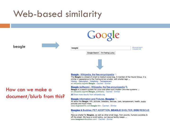 Web-based similarity