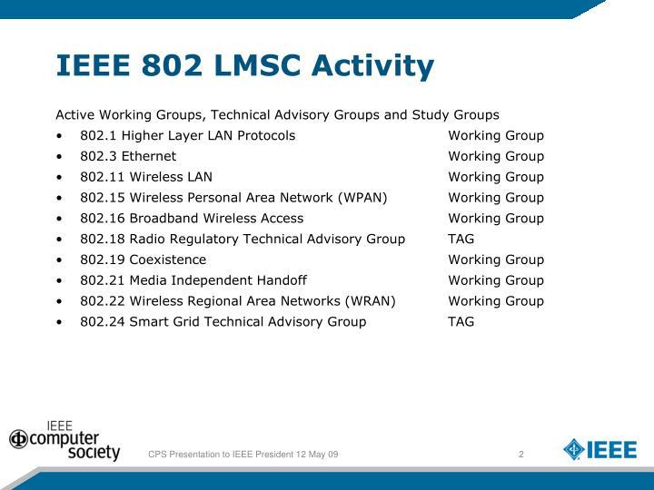 IEEE 802 LMSC Activity