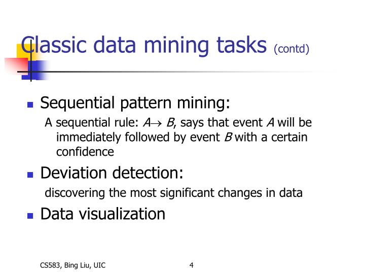Classic data mining tasks