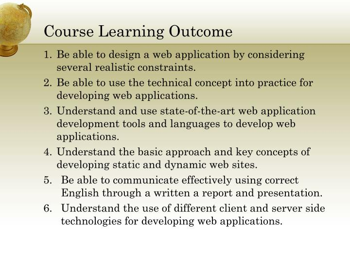 Course Learning Outcome