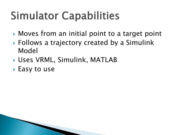 Simulator Capabilities
