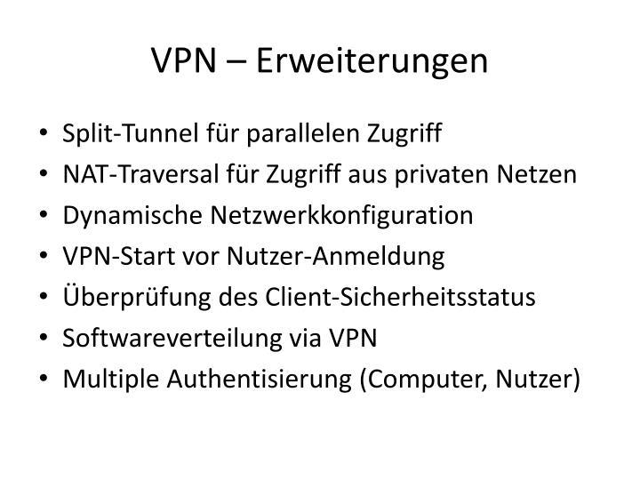 VPN – Erweiterungen