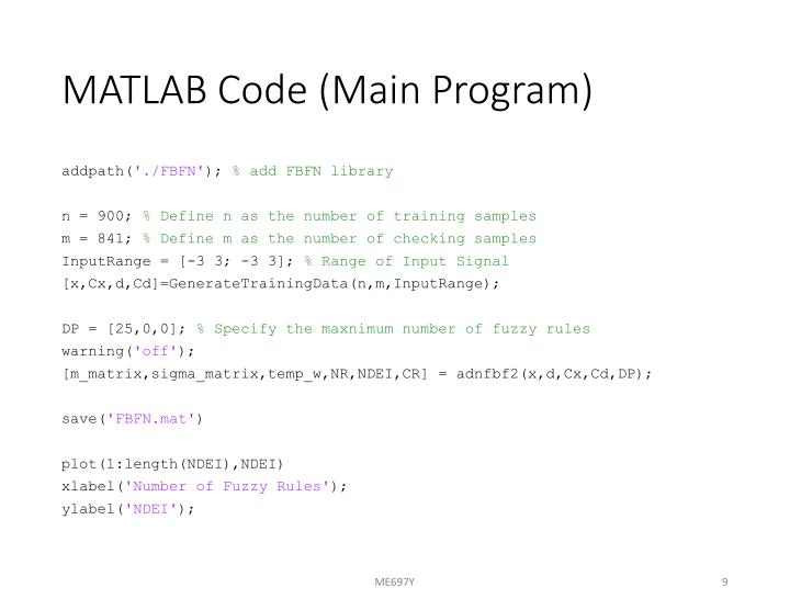 MATLAB Code (Main Program)