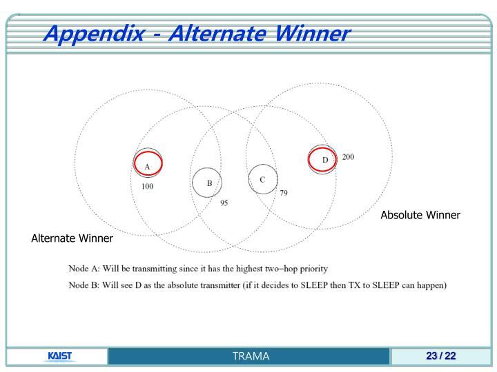 Appendix - Alternate
