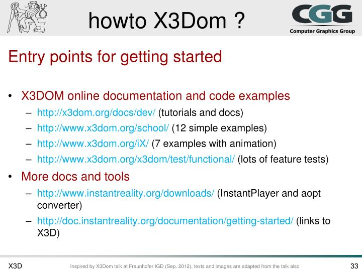 howto X3Dom ?