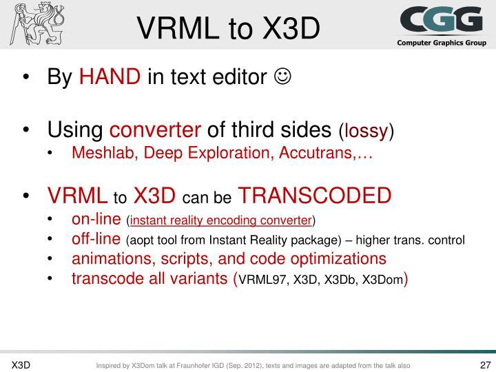 VRML to X3D