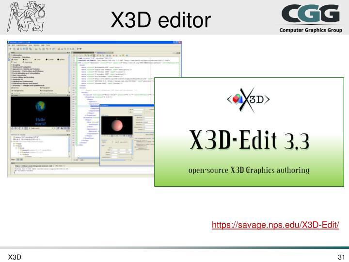 X3D editor