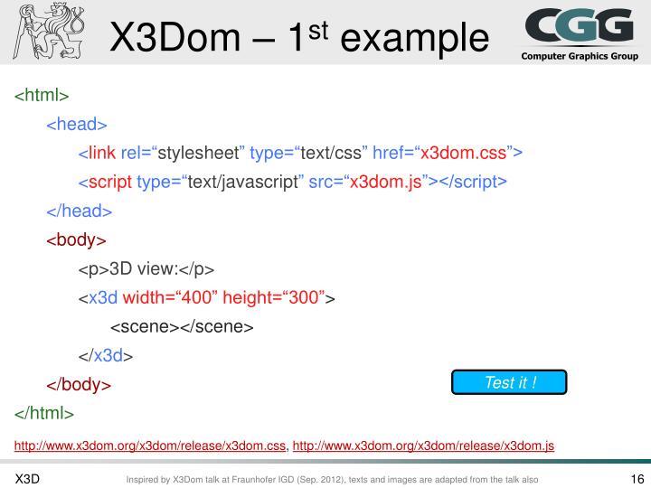 X3Dom – 1
