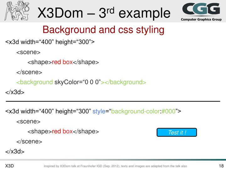 X3Dom – 3