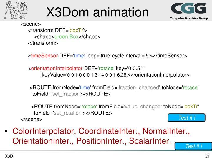 X3Dom animation