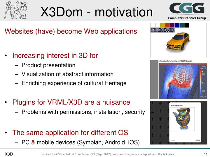 X3Dom - motivation