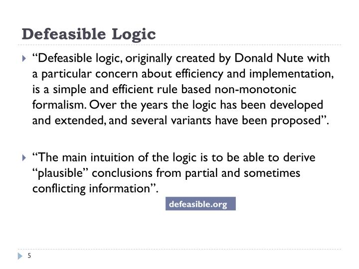 Defeasible Logic