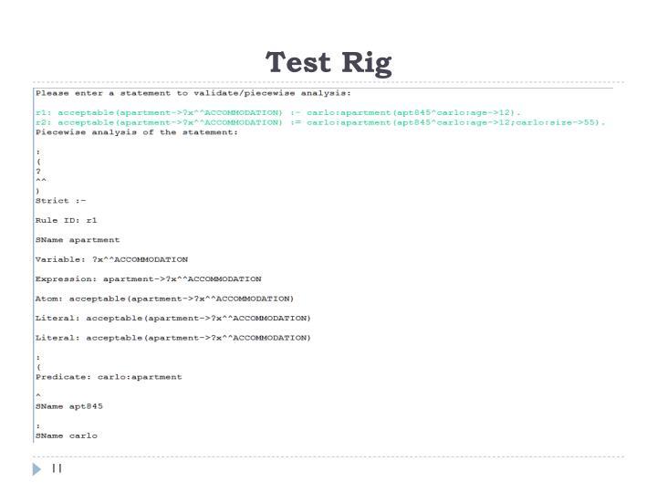 Test Rig