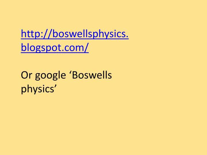 http://boswellsphysics.blogspot.com