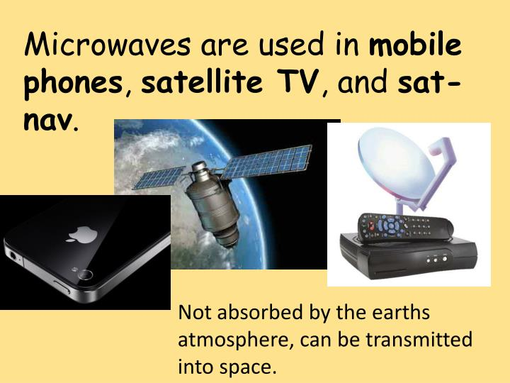 Microwaves are used in