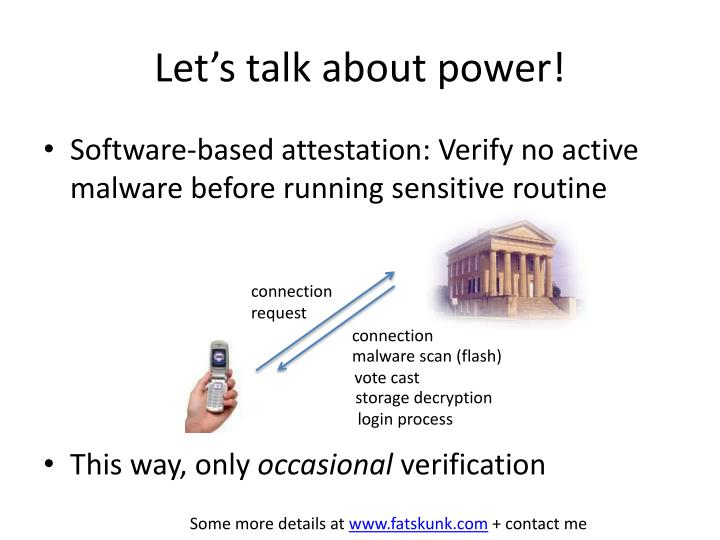 Let's talk about power!